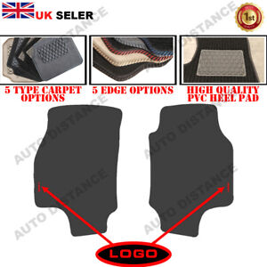 Tailored Carpet Car Mats With Heel Pad FOR Vauxhall Astra Van WITH LOGO 1998-06