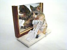 Giftcraft Sue Wall's Cats Lovely Lace Orange and Black Cat Playing with Lace