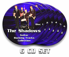 152x HANK MARVIN & THE SHADOWS GUITAR BACKING TRACKS x6 CDs