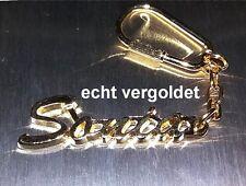 porte-clés de qualité Sonia plaqué d'or doré avec nom porte-clé NEUF