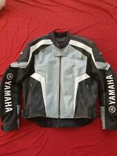 Mens leather Hein Gericke-Yamaha motorcycle riding jacket msrp$495