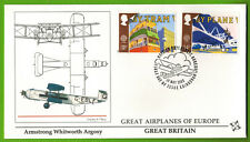 1988-Fdc-Great Britain-Armstrong Whitworth-Aviation-Timbre Europa-Yt.1313/4