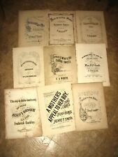 9 PIECES OF MID TO LATE 19TH CENTURY SHEET MUSIC WITH MOTHER AS THEME