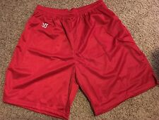 Lot FIVE 5 Men's Warrior XL Red Lacrosse shorts Polyester Basketball Soccer