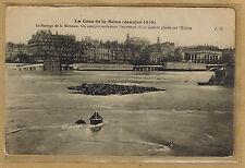 Cpa Paris la crue de la Seine - le barrage de la Monnaie wn1138