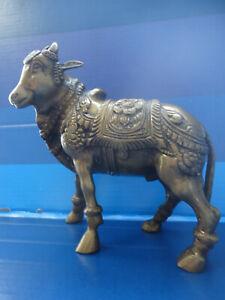 Vintage Bronze Hindu Holy Sacred Cow.