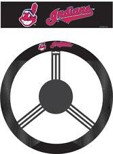 Cleveland Indians Steering Wheel Cover MLB Baseball Team Logo Poly Mesh