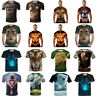 3D Print T-Shirt Animal Men Women Funny Casual Cool Summer Short Sleeves Top Tee