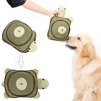 Dog Cat Pet Squeaky Sniffing Turtle Design Food Dispenser-Slow Feeding Training
