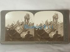 More details for ww1 stereoview photograph british soldiers about to go over the top