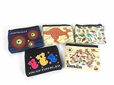 5pk Australian Souvenir Coin Purse Case Pouch Bag/Map Aboriginal Kangaroo Koala