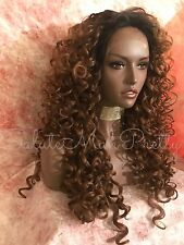 100% Human Hair Blend Curly 3x5 Natural Parting Lace Front Wig