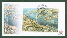 Malta Malte 2013 - Block 56 - Hafen Valetta Schiffe - Joint-Issue m. Curacao FDC