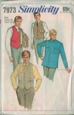 Vintage Simplicity Sewing Pattern 7973 Mens Shirt Vest Size 36  Father's Day