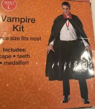 Spooky Village Adult Vampire Kit - One Size Fits Most - Brand NEW in Package