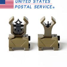 TAN Premium Tactical Diamond Aperture Flip Up Front Rear Iron Sights Set US