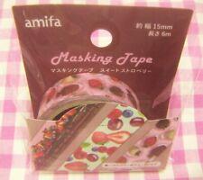 amifa / Sweet Strawberry Pink Paper Masking Tape / Japan