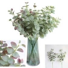 Eucalyptus Bouquet Branches Green Plant Silk Artificial Leaves Flower Decoration