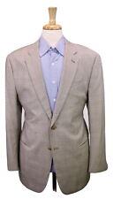 * ARMANI COLLEZIONI * Su Misura Recent Light Brown Plaid 2-Btn Wool Blazer 40R
