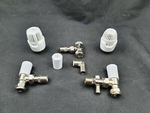 Drayton Replacement TRV Head Sensor/Angled TRV Body/Lockshield/Cap/Elbow