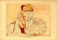 Mutter und Kind XL Kunstdruck 1918 Armin Horovitz * Warschau † Norwich Frau Baby