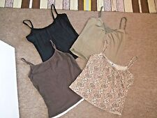 NEXT, ATMOSPHERE & NEW LOOK Strappy Summer CAMISOLES x 4~UK 12
