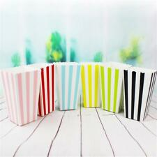 12pcs Colorful Mini Paper Popcorn Boxes Birthday Party Supplies Kids Candy Box