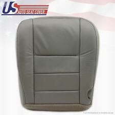 2002 to 2007 Ford F250 F350 Lariat Driver Heated Bottom Leather Seat Cover Gray