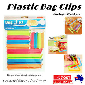 Plastic Sealing Bag Clip Sealer Clamp Kitchen Storage Food Snack Chips Seal Tool