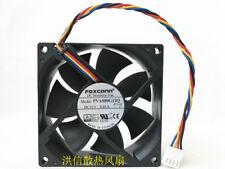 1PC Foxconn 8025 PVA080G12Q 12V 0.65A 8CM 4-Pin PWM Large Air Volume Fan