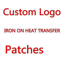 Custom your Logo Customized PATCHES STICKERS IRON ON HEAT TRANSFER