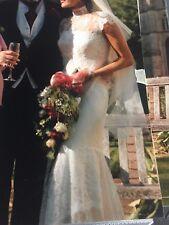 Abito da sposa Pronovias Champaign a colori misura 10 RRP £ 1500