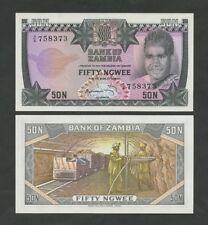 ZAMBIA 50 ngwee  1973  P14  Uncirculated  Banknotes