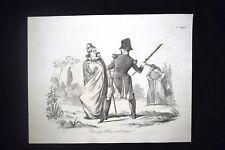 Incisione d'allegoria e satira Napoleone III tradisce Francia Don Pirlone 1851