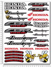 Honda CBR 600F Hornet motorbike racing decal set 9.4x12.6 sheet 27 stickers