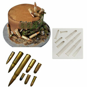 Bullet Silicone Cake Fondant Decor Sugarcraft Mold Chocolate Baking Mould Tool
