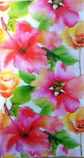 Two (2) Spring Flowers Paper Hostess Napkins for Decoupage and Paper Crafts