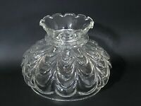 Vintage Crimped Drape Style B&H Rayo Aladdin Oil Hurricane Glass Lamp Shade