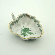 Apponyi Grün Vert Herend kleine Blattschale Schale ca.10 x 7,5 x 3,5 cm