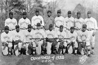 1932 Pittsburgh Crawfords Team PHOTO Satchel Paige, Negro League Baseball Stars