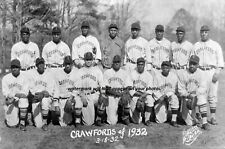 1932 Pittsburgh Crawfords Team PHOTO Satchel Paige, Negro League Baseball Stars