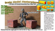 Palleted Bricks/Cinder Blocks-Lg(2pcs)Scale Model Masterpieces 1:48 On3/ 2 Rail