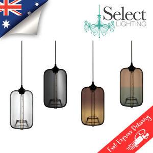 KIKKI - Modern Vintage, Hanging Glass Pendant Lights, 4 Colours