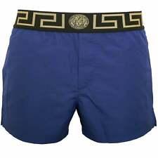 Versace Iconic Luxe Men's Swim Shorts, Bluette/gold