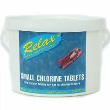 More details for relax 20g small chlorine tablets 2 kg for spa hot tub swimming pool chemicals
