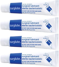 Surgilube Lubricating Jelly Sterile - 4.25 oz Flip Top Tube - Pack of 4 Tubes
