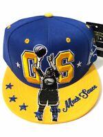 Golden State New Leader Game Bridge Warriors Blue Gold Era Snapback Hat Cap