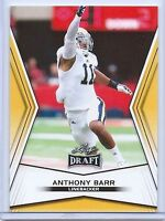 "ANTHONY BARR ""35 CARD LOT"" 2014 LEAF DRAFT ""GOLD"" ROOKIE CARD LOT! VIKINGS!"