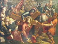 Gesù cade sotto il peso della croce OLIO su tela cm 73x97,5 XVII secolo '600