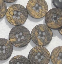 set 16 Snake Skin like texture vintage new multi colored buttons 5/8""